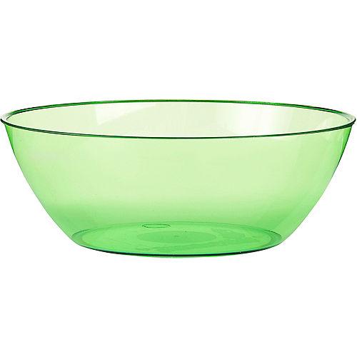 Kiwi Green Plastic Serving Bowl Image #1