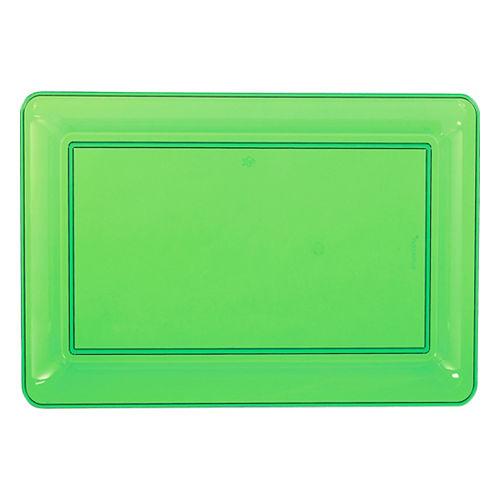 Kiwi Green Plastic Rectangular Platter Image #1