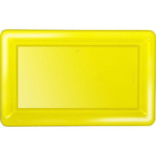 Yellow Plastic Rectangular Platter Image #1