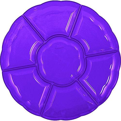 Purple Plastic Scalloped Sectional Platter Image #1