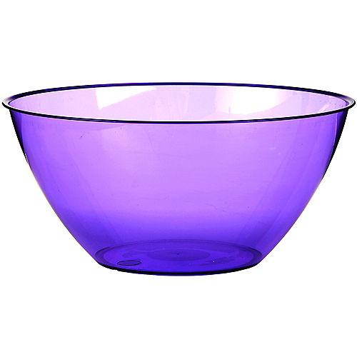 Large Purple Plastic Bowl Image #1