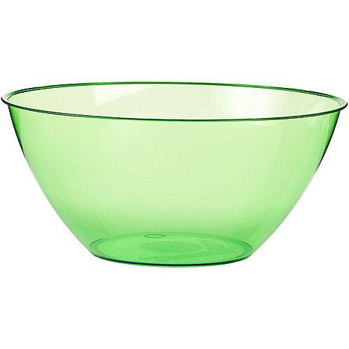Large Kiwi Green Plastic Bowl Image #1