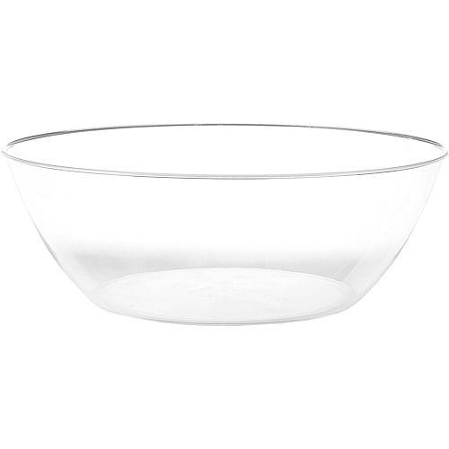 CLEAR Plastic Serving Bowl Image #1