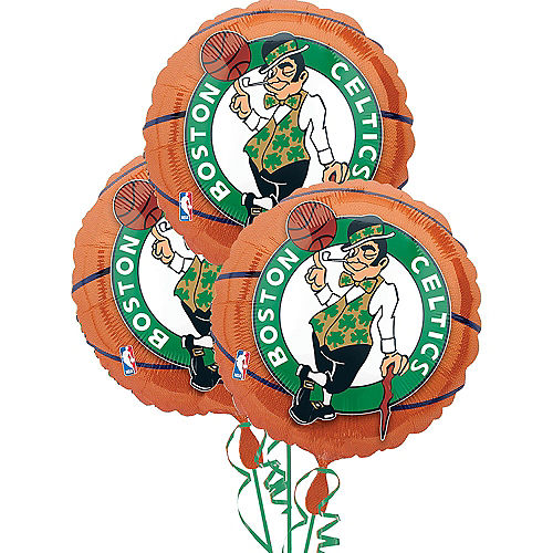 Boston Celtics Balloons 3ct - Basketball Image #1
