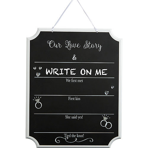 Our Love Story Wedding Chalkboard Sign Image #2