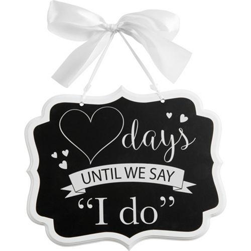 Wedding Countdown Chalkboard Sign Image #1