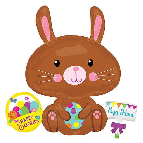 Brown Easter Bunny Balloon Image #1