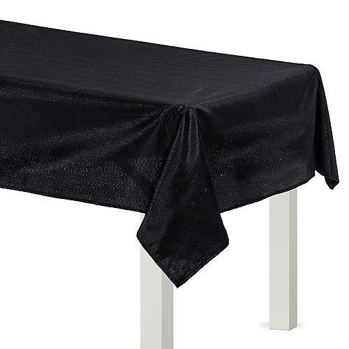 Metallic Black Fabric Tablecloth Image #1