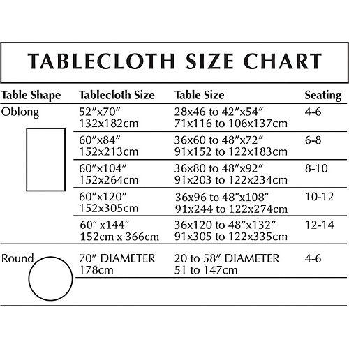 Metallic White Fabric Tablecloth Image #3