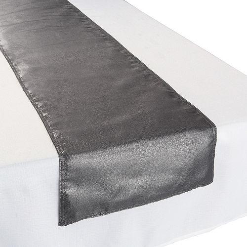 Metallic Silver Fabric Table Runner Image #1