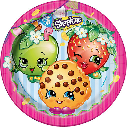 Shopkins Lunch Plates 8ct Image #1