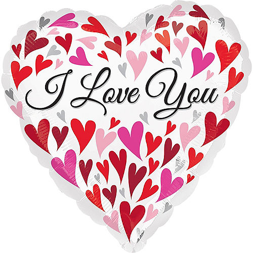 I Love You Heart Balloon 17in - Floating Hearts, 18in Image #1