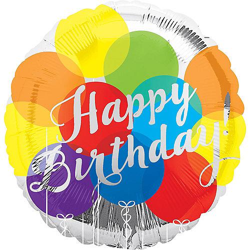 Rainbow Balloons Happy Birthday Balloon, 17in Image #1