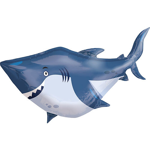 Under the Sea Shark Balloon 40in x 32in - Giant Image #1