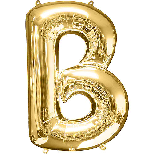 34in Gold Letter Balloon (B) Image #1