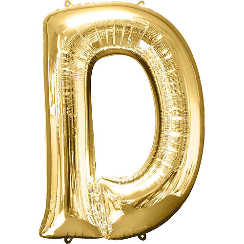 34in Gold Letter Balloon (D) Image #1