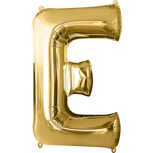 34in Gold Letter Balloon (E) Image #1