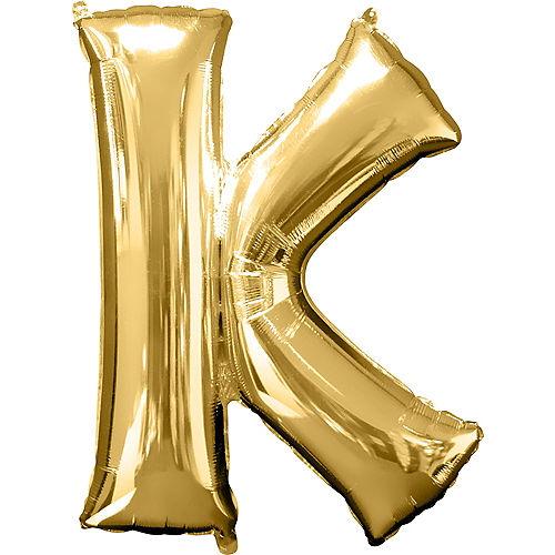 34in Gold Letter Balloon (K) Image #1