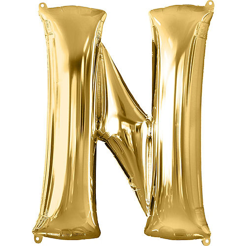 34in Gold Letter Balloon (N) Image #1