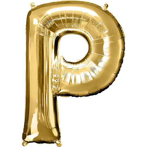 34in Gold Letter Balloon (P) Image #1