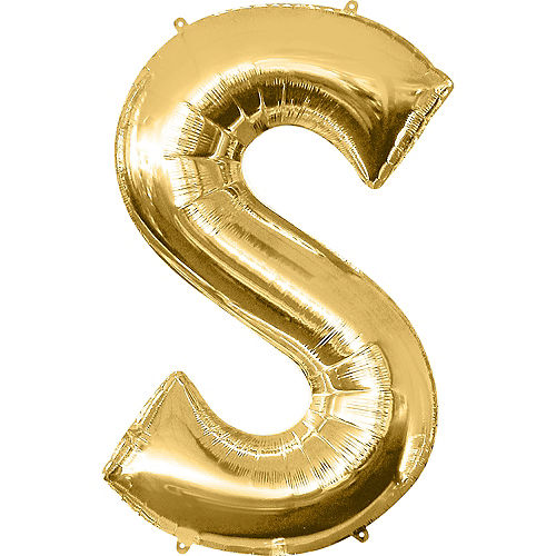 34in Gold Letter Balloon (S) Image #1