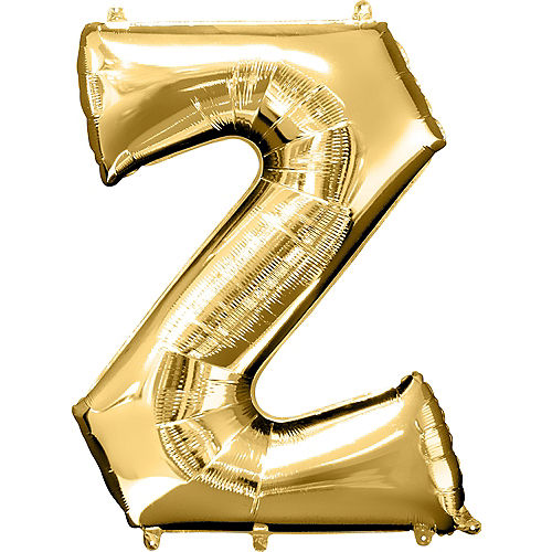 34in Gold Letter Balloon (Z) Image #1