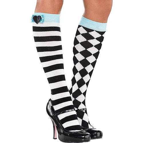 Black & White Alice Knee Socks Image #1