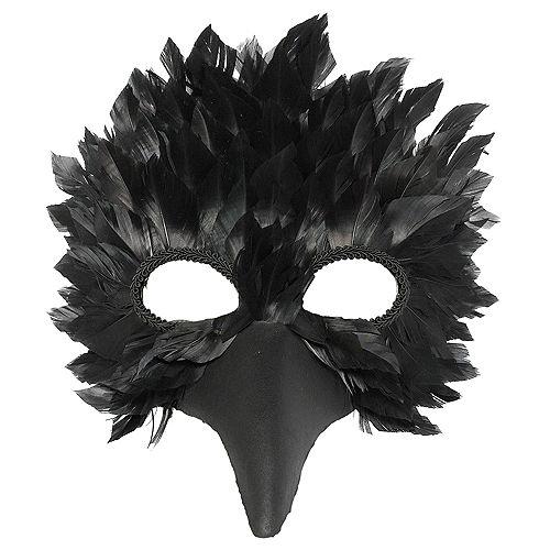 Black Crow Feather Mask Image #1