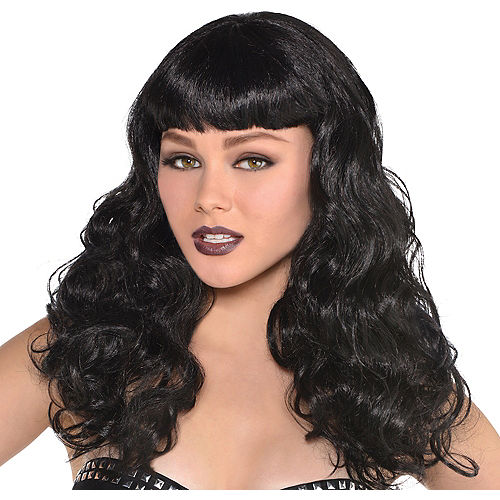 Wavy Black Wig Image #1