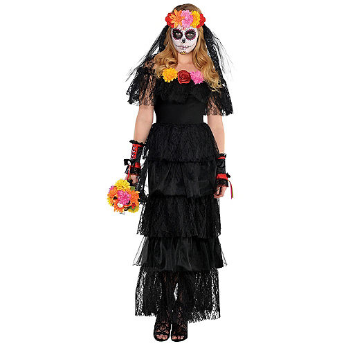 Black Day of the Dead Dress Image #1