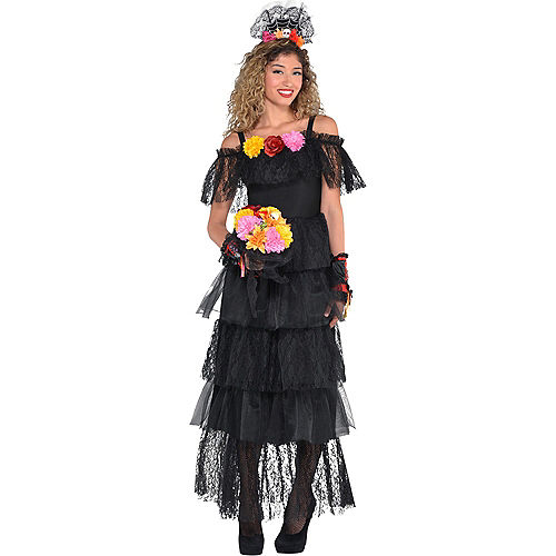 Black Day of the Dead Dress Image #2