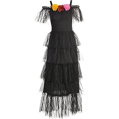 Black Day of the Dead Dress Image #3