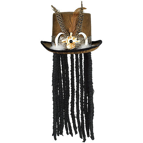 Witch Doctor Top Hat with Dreads Image #1