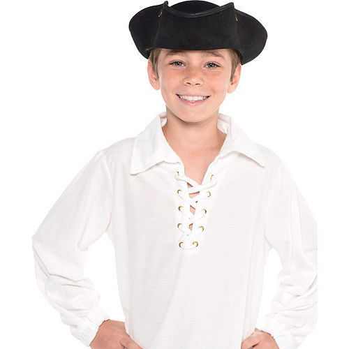Child Black Pirate Hat Image #2