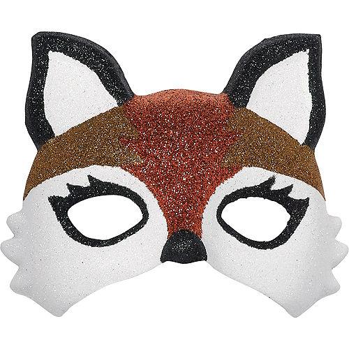 Child Glitter Fox Mask Image #1