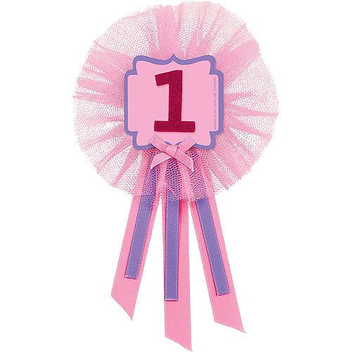 Pink 1st Birthday Award Ribbon Image #1