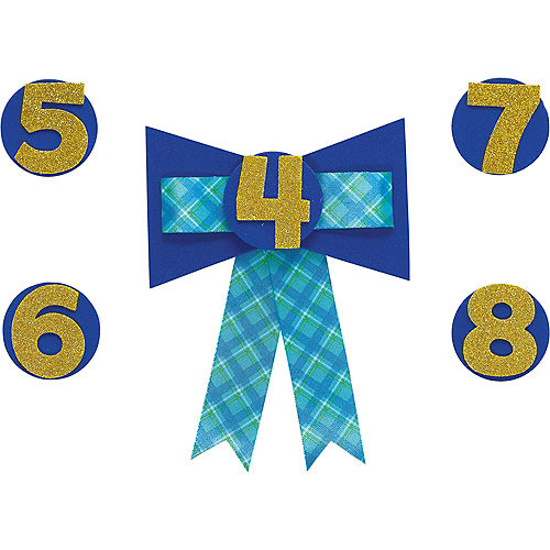 Personalized Blue Birthday Award Ribbon Image #1