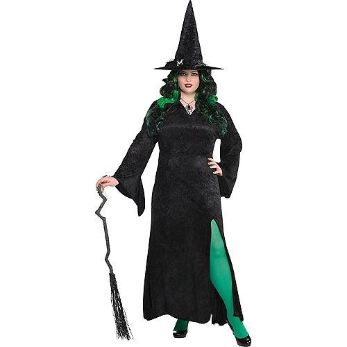 Black Basic Witch Dress Plus Size Image #1