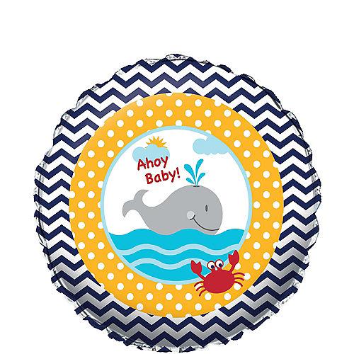 Ahoy Nautical Baby Shower Balloon Image #1