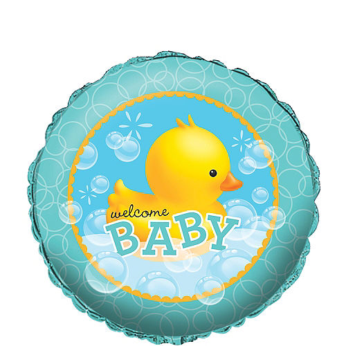 Rubber Ducky Baby Shower Balloon, 18in Image #1