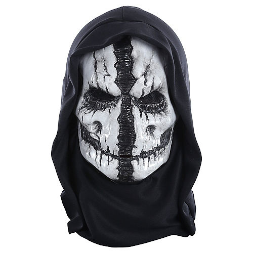 Grim Reaper Mask with Hood Image #1
