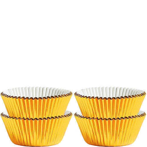 Mini Gold Baking Cups 75ct Image #1