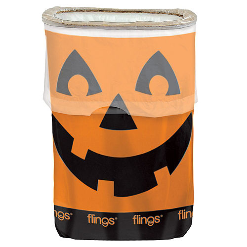 Jack-o'-Lantern Flings® Pop-Up Trash Bin Image #1