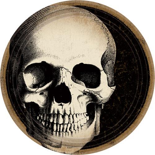 Boneyard Skull Dessert Plates 60ct Image #1