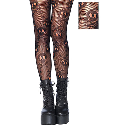 Skull & Crossbones Pantyhose Image #1