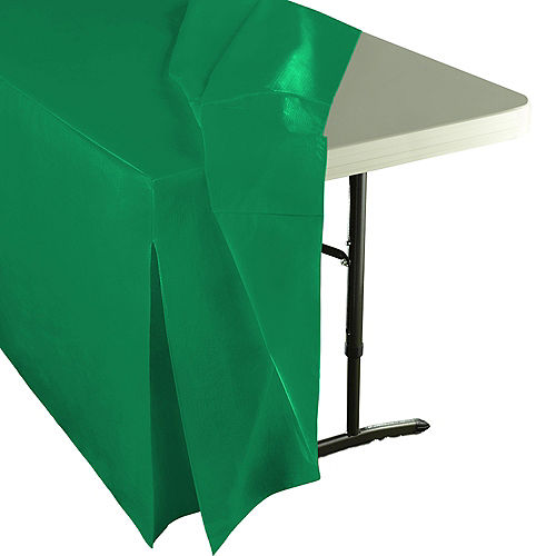 Festive Green Flannel-Backed Vinyl Fitted Table Cover Image #2