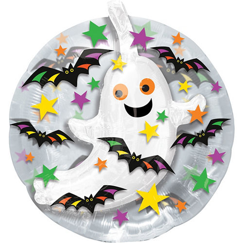 Bats & Ghost Balloon - See Thru, 24in Image #1