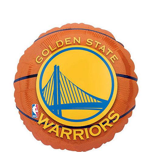 Golden State Warriors Balloon Bouquet 5pc - Basketball Image #2