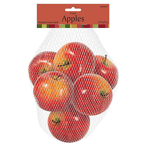 Foam Apples 6ct Image #2