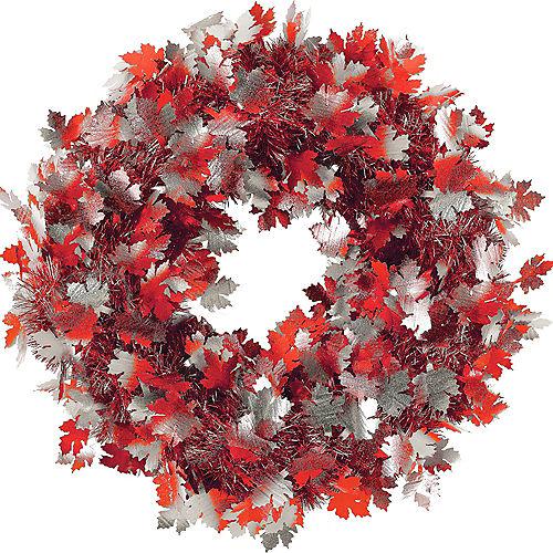 Fall Leaves Tinsel Wreath Image #1